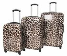 Hard Shell 4 Wheel Spinner Suitcase Travel Luggage Lightweight Leopard Print
