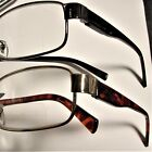 1 EXECUTIVE style  CLEAR BIFOCAL READING GLASSES Gold or Black Spring temple