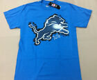 Detroit Lions NFL Majestic Blue T-Shirt New With Tags Mens Sizes Medium