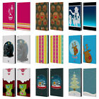 HEAD CASE MIX CHRISTMAS COLLECTION LEATHER BOOK CASE FOR AMAZON FIRE HD 10