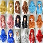 "31"" Full Womens Wigs Long Curly Wavy Synthetic Hair Party Cosplay Heat Resistant"