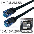 Cat7 Ethernet Flat Patch Network UTP LAN Cable 1M up to 20M twisted pair 3~60FT