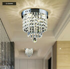 Modern Silver Chrome Crystal ceiling Lights lamp Fixtures pendant Chandelier New