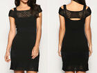 New KAREN MILLEN Black BNWT £120 Crochet Knit Evening Bodycon Bandage Dress