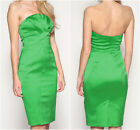 New KAREN MILLEN Satin BNWT £165 Green DJ021 Evening Prom Party Dress UK Size 12
