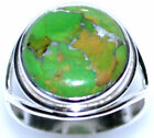 Green COPPER Turquoise Rings, 925 Sterling SILVER Ring All Size L, 5½ to Y, 12