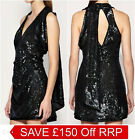 New KAREN MILLEN Sequin BNWT £225 Party Club Prom Cocktail Evening Dress SALE