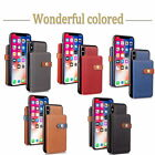 Folded Retro Wallet Leather Cover For IPhone 6 7 8 X ShockProof PU Leather