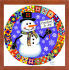 The Holiday Aisle 'Snowman Quilt 1' Graphic Art Print
