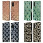 HEAD CASE TEXTURED ART DECO PATTERNS LEATHER BOOK CASE FOR SAMSUNG PHONES 1