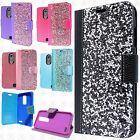 For ZTE Max XL N9560 Premium Bling Diamond Wallet Case Flip Pouch Phone Cover