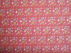 Butterfly Dance small flower print on coral 100% cotton fabric from Riley Blake