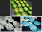 13X18mm 25X34mm 29x38mm Beautiful Oval Howlite Turquoise Spacer Gems Beads 16""