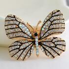 Crystal Butterfly Rhinestone Pin Brooch Scarves Sweater Décor For TXST