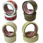 12 Rolls Yuzet PACKING TAPE brown clear fragile printed buff sealing box carton
