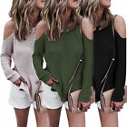 NEW Women Long Sleeve Knitted Sweater Tops Loose Cardigan Outwear Coat S/M/L/XL