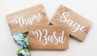 wedding table names, rustic wedding signs, plant name signs, table themes