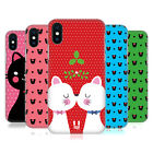HEAD CASE DESIGNS CHRISTMAS CATS HARD BACK CASE FOR APPLE iPHONE PHONES