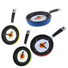 Frying Pan Clock Alarm with Fried Egg Kitchen Cafe Wall Clock  J4S2