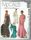 McCalls #4512 Evening Elegance Fitted flared Gown & Stole Pattern Sz 6-10 UC