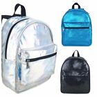 Miso Cosmo Holographic Black Turquoise Glitter Backpack