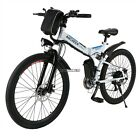 "26"" Wheel Foldable Electric Mountain Bike Bicycle Ebike W/ Lithium Battery 250W"