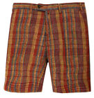 Gant by Michael Bastian Herren Shorts Bordeaux/Braun The MB Printed Madras Short