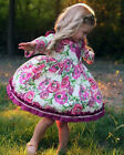 US Stock Baby Dress Infant Long Sleeve Princess Party Pageant Dresses Clothes