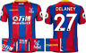 17 / 18 - MACRON CRYSTAL PALACE HOME SHIRT SS + PATCHES / DELANEY 27 = ADULTS