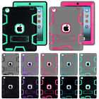 Shockproof Heavy Duty Hard Stand PC Soft Rubber Case Cover For iPad Mini Air Pro