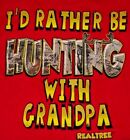 "INFANT SHORT SLEEVE REALTREE CAMO ""HUNTING WITH GRANDPA"" SHIRT TSHIRT TOP (red)"