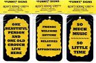 INSPIRATIONAL FAMILY FRIENDS MUSIC FUNNY COMIC SAYINGS SIGNS GIFT SHOP