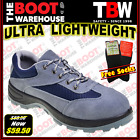 TBW Work Boots, VIPER, Grey, Steel Cap Safety, Lightweight, Lace-Up Sports Shoe