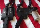 J&J FORMED SIG SAUER HORIZONTAL PREMIUM LEATHER SHOULDER RIG HOLSTER BLACK