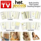 Hot Jewels® 4pcs Metallic Temporary Tattoos Silver Gold Black Colours Flash Body
