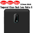 Premium Tempered Glass Screen Protector For Nokia 6 Back Camera Lens -1/5/10Pack