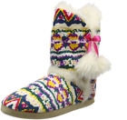 Womens Dunlop Aceline Slip On Boot Slippers Fuchsia Mix Warm lined
