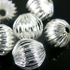 50 x 12mm SILVER PLATED JEWELLERY SPACER BEADS FANCY PATTERN