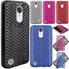 For LG K20 Plus Zig Zag Shockproof Hybrid Rubber Silicone Cover +Screen Guard