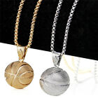 3D Basketball Necklace Men Sports Pendant Hiphop Fan Jewelry Chain Necklace FQB