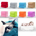 Vouge Soft Solid Warm Micro Plush Fleece Blanket Throw Rug Sofa Bedding Lot
