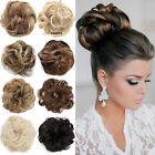 Real Natural Curly Messy Bun Hair Piece Scrunchie Hair Extensions As Human F3K