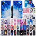 For iPhone 6 6s 7 8 Plus X Cute Pattern Leather Magnetic Flip Wallet Stand Case