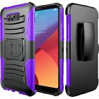 For Samsung Galaxy S8 Active Hybrid Combo Holster KICKSTAND Rubber Case Cover