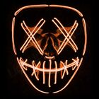 Light Up Mask &quot;Smiling Stitched&quot; El Wire (Halloween 2018 Rave Cosplay Edm Purge) <br/> LightUpMasks Official Product MADE IN THE USA