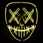 """Light Up Mask """"Smiling Stitched"""" El Wire (Halloween 2018 Rave Cosplay Edm Purge)"""