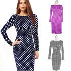 Office Clubwear Wiggle Fitted Womens Ladies Vintage Dress UK sz 6-18
