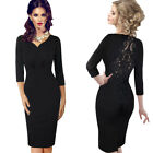 Womens Sexy See Through Bead Embroidery Mesh Cocktail Party Sheath Dress 8678