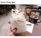 For iPhone X 8 7s Cute Lovely Cat Mobile Phone Case Cover Luxury Fluffy Hair Fur