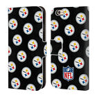 NFL 2017/18 PITTSBURGH STEELERS LEATHER BOOK WALLET CASE FOR APPLE iPHONE PHONES
